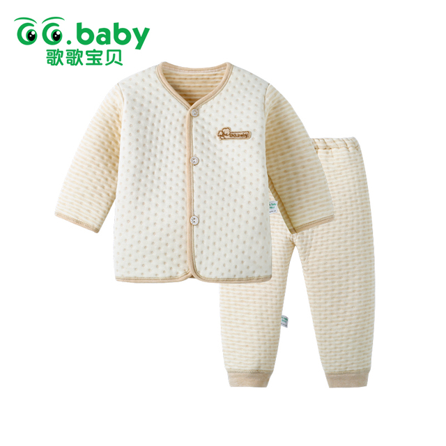 Cotton Snow Newborn Set Winter Suit Baby Girls Clothing Sets Bebes Warm Tops Pants Infant Newborn Baby Boys Winter Clothes Sets