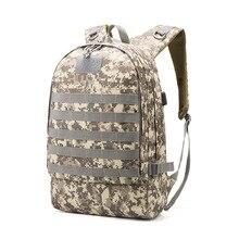 PUBG Backpack Men School Bags Mochila Pubg Battlefield Infantry Pack Travel Canvas USB Camouflage school backpacks for Boys