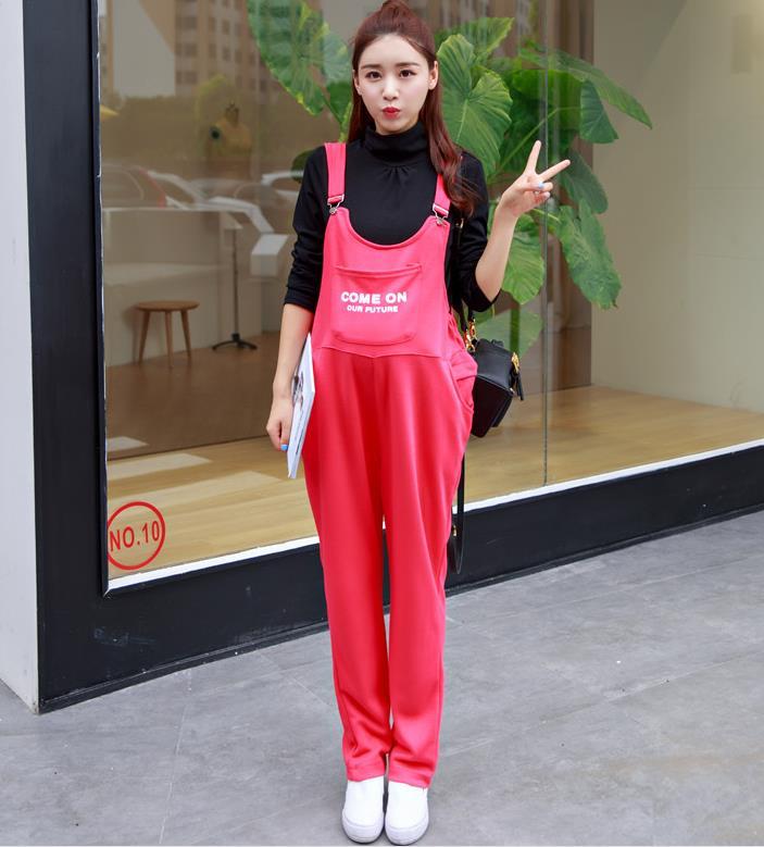 Bonne qualité lâche dame combinaison poche maternité bavoir pantalon femme enceinte Zipper grande taille M-XXL en plein air sangle combinaison pantalon