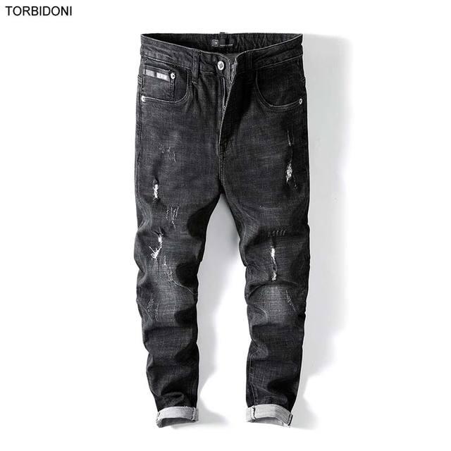 online retailer bb46d 2d407 Nouveau-Automne-Biker-Jeans-Hommes-Trou-Mode-Denim-Pantalon-Homme -Slim-Fit-Haute-Qualit-Marque-V.jpg 640x640.jpg