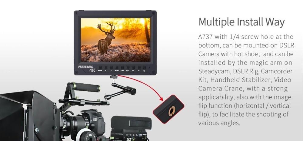 7 inch crane arm design on-camera monitor1