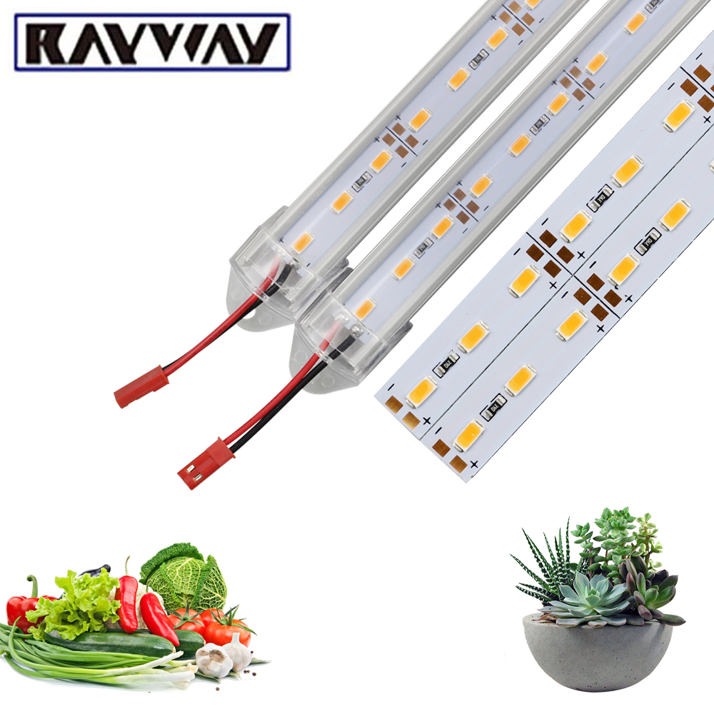 Full Spectrum Hydroponic LED Grow Light 50CM SMD 5730 DC12V Grow Tent Lamp Led Rigid Strip For Flower Seeding Greenhouse