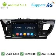 """Quad Core 1024*600 9 """"5.1.1 Android Reproductor de DVD Del Coche de Radio DAB + FM Estéreo USB 3G/4G WIFI GPS Map para TOYOTA COROLLA LHD 2014"""