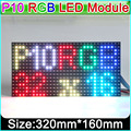 P10  SMD 3IN1 RGB  full color led display module, indoor/semi-outdoor LED panle, 1/8 scan 320*160mm, text, pictures, video show