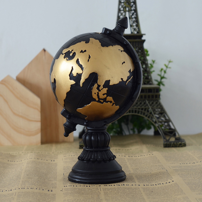 World Globe Resin Cabochon Vintage Home Decor Wedding Activities Little Gift Desk Decoration Miniature Crafts Toy In Figurines Miniatures From