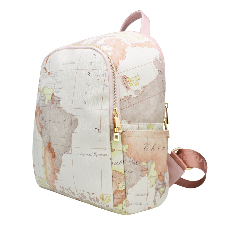 High quality unisex world map backpack casual women backpack high quality unisex world map backpack casual women backpack leather men backpack school bag mochila travel backpack hc w 6652 in backpacks from luggage gumiabroncs Gallery
