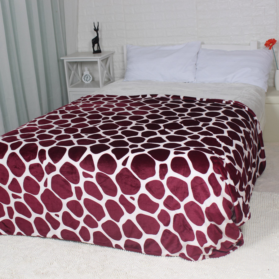Awesome Us 23 79 Winter Blanket Burgundy Red Giraffe Skin Design King Queen Flannel Fleece Blankets Throw For The Couch Sofa Bed Sheet In Blankets From Home Bralicious Painted Fabric Chair Ideas Braliciousco