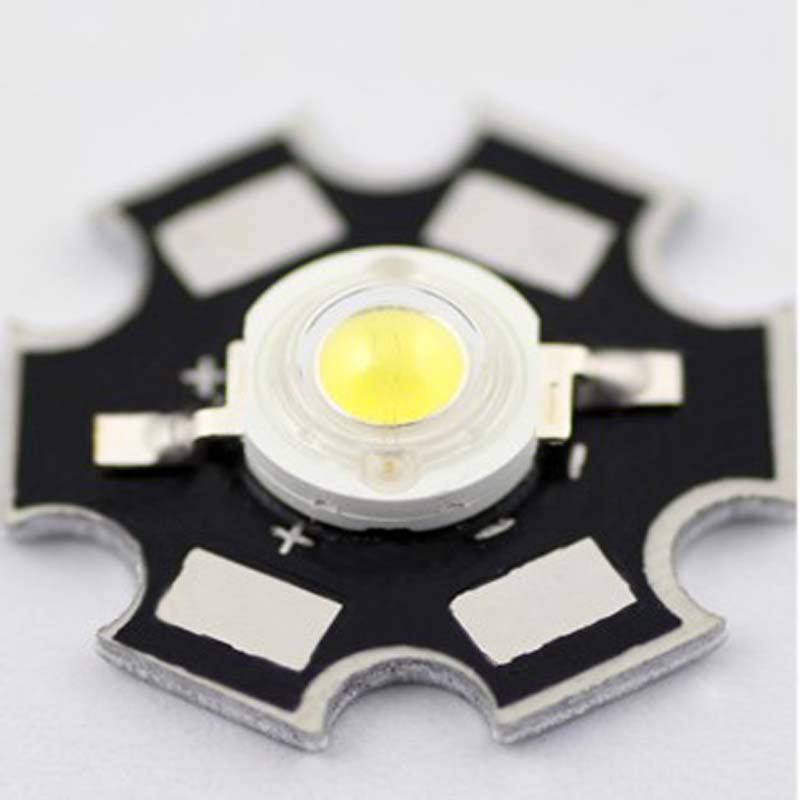 High Power 3W Cool White 165-180LM 20mm LED Star (5pcs/lot)