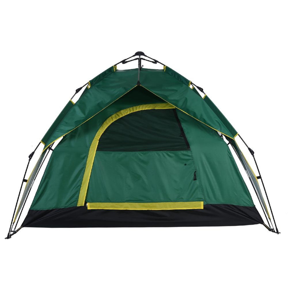 US AU DE Outdoor 3 4 persons Camping Tent Waterproof Automatic Quick Open Double Layer Hydraulic