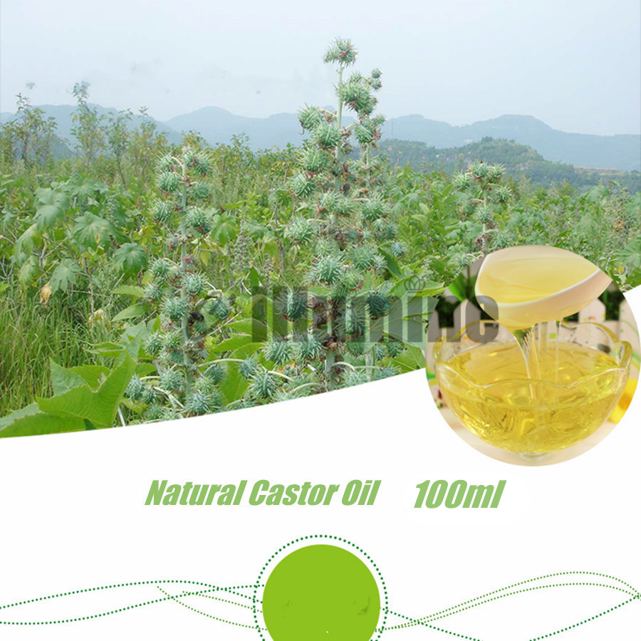 Pure Natural Castor Base Oil Edible Massage Spa Pedicure DIY Handmade Soap Raw Material Skin Hair Care Beauty Salon 100ml