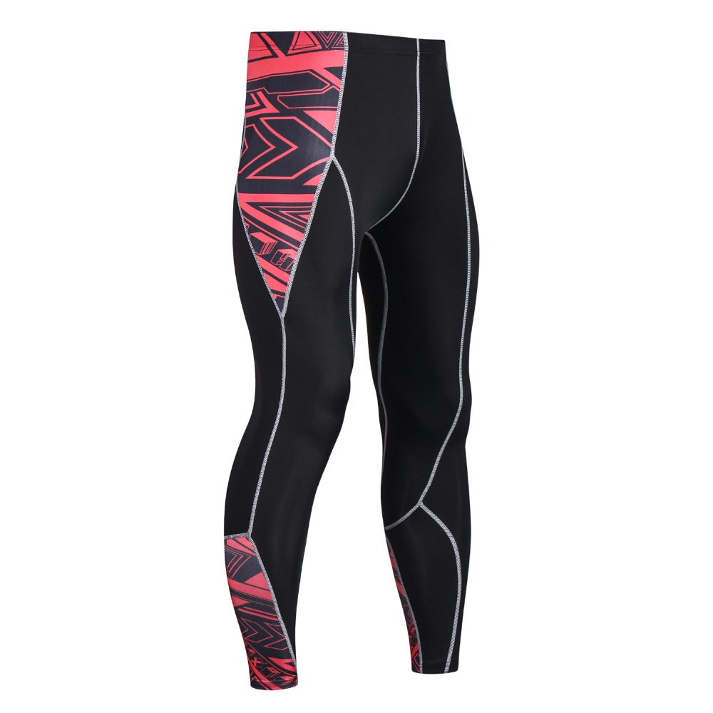Mens 3D Compression Pants New Fashion Print Quick Dry Skinny Bodybuilding Leggings Tights Fitness MMA Pants Trousers Elasticity