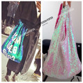 Designer Large Sequin shopping bag Women IT bag  fashion Tote Bolsa