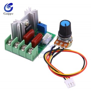 AC 50V-220V 2000W Motor Speed Controller High Power SCR Voltage Regulator Dimming Dimmers Governor Module W/ Potentiometer 110V(China)