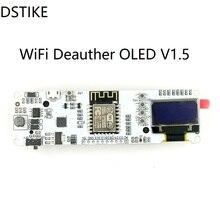 DSTIKE Wi-fi OLED Deauther V1.5 (Pré-brilhou) ESP8266 + OLED ESP-12F NodeMCU IOT Development Kit de Rádio Sem Fio 18650 carregador ESP32