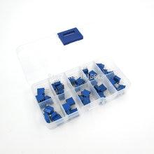 Trimmer Potentiometer-Kit Multiturn Variable Resistor 50K 20K 10K 100k-200k 1M 3296X