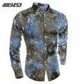 Мода Новый Стиль 2017 Дизайнер Рубашка Мужчины Одежда Рубашки Мужчины Бизнес Случайный Напечатаны Бренд Сорочка Homme Мужчины Тонкий MXB0233
