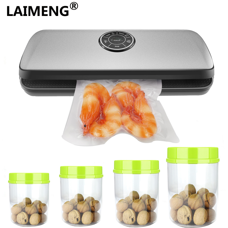 Vacuum Food Sealing Machine With Plastic Vacuum Canister For Food Storage Free Vacuum Bags For Food Included S157 free shipping desktop vacuum packing machine for plastic bag food sealing macine