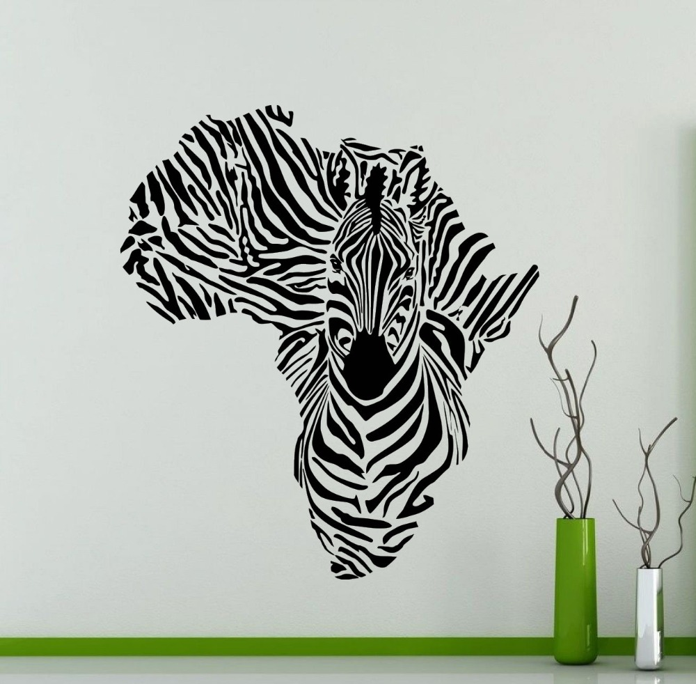 popular cool wall mural buy cheap cool wall mural lots from china order 1 piece africa map silhouette creative special zebra wall mural cool animal wall sticker vinyl removable home decorative