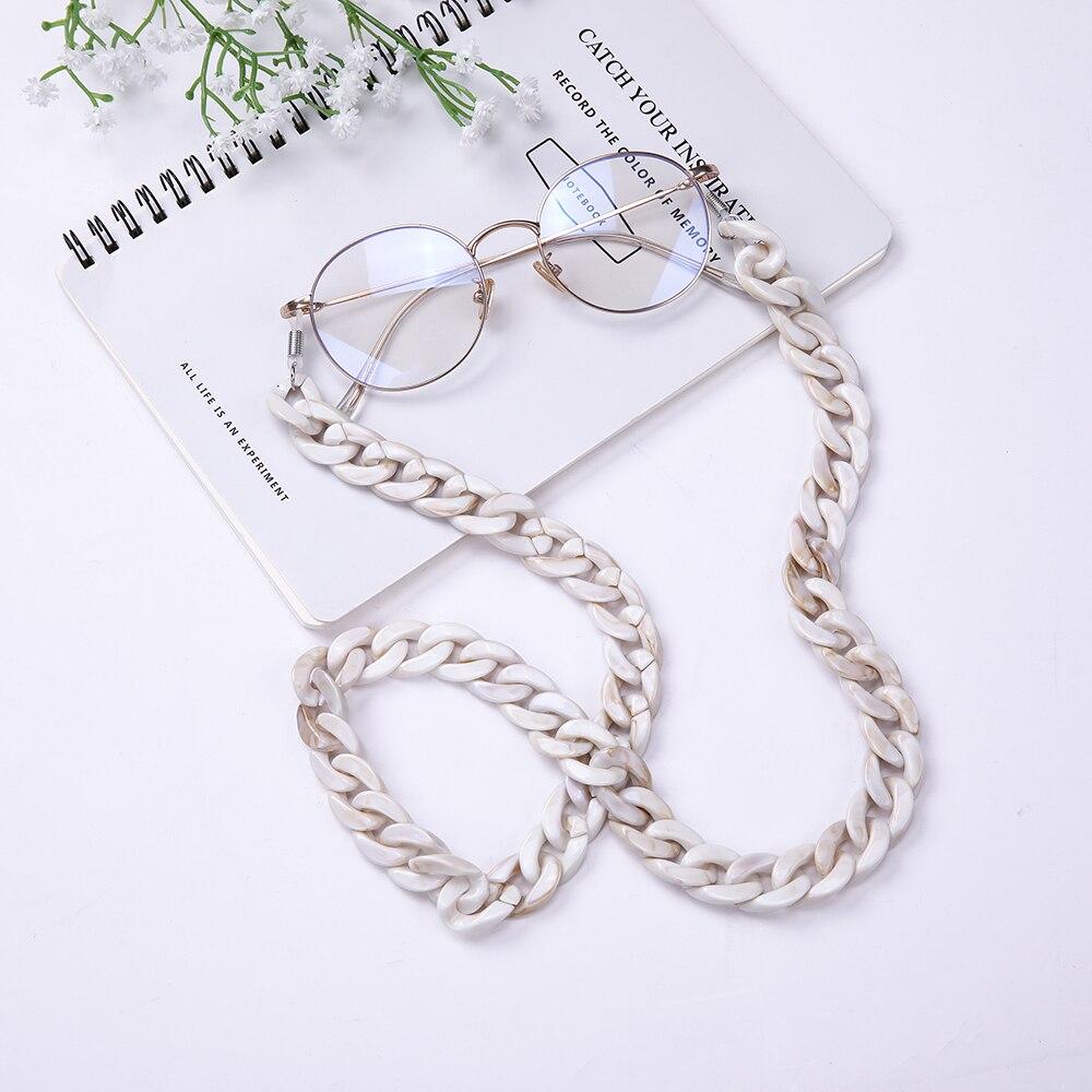 Skyrim Модные женские акриловые цепочки для очков Очки Аксессуары Солнцезащитные очки цепочка для очков для чтения шнур держатель шейный ремешок|Очки аксессуары| | - AliExpress