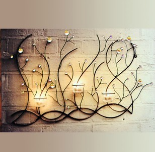 Online Shop Modern Home Decor Metal Tree Structured Candle Holder