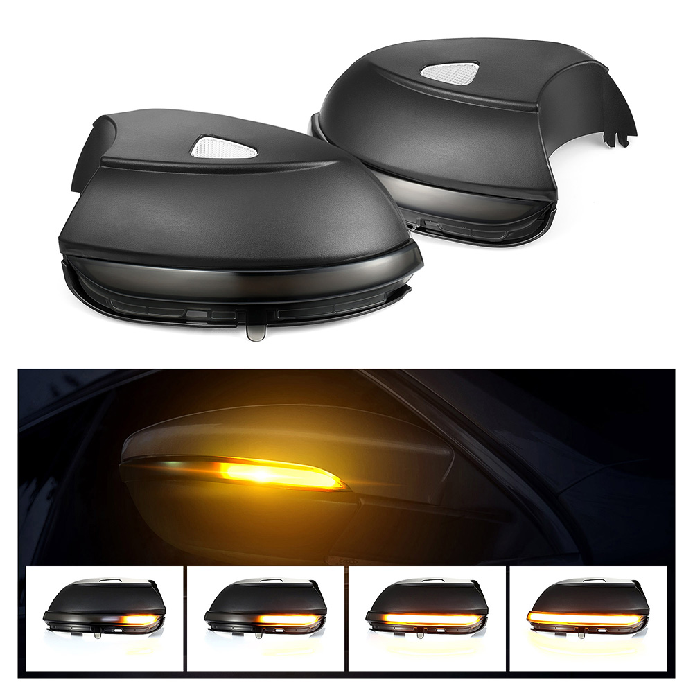 2 pcs LED Water Flowing Turn Single Light Rear View Dynamic Sequential Mirror For Volkswagen Scirocco MK3 Passat B7 CC