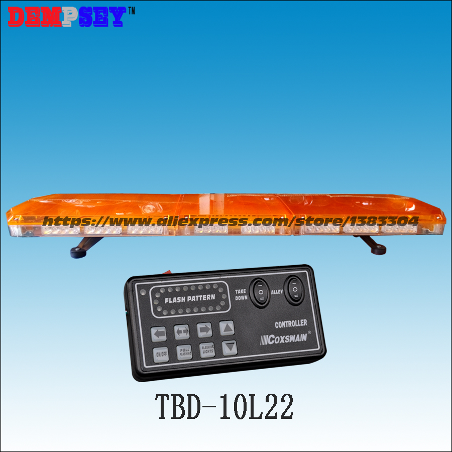 TBD-10L22 LED Lightbar,DC12V/24V amber warning light bar ,waterproof,for ambulance/fire truck/police/vehicle,18 flash patterns higher star 140cm 104w led emergency lightbar truck warning light bar strobe light for police ambulance fire vehicles waterproof