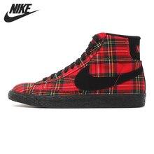 Original Nike WMNS BLAZER MID TEXTILE PRM women s Skateboarding Shoes 685207 600 High top sneakers