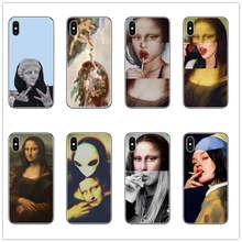 Mona Lisa Phone Case Art Paint Pattern Print Soft TPU for iphone X XR XS MAX