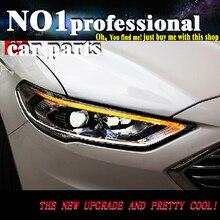 OUMIAO Автомобиль Стайлинг для Ford Mondeo 2017 фары автомобиля светодио дный fusion светодиодные фары DRL Hid Bi Xenon луч объектив Flash прямой желтый поворота