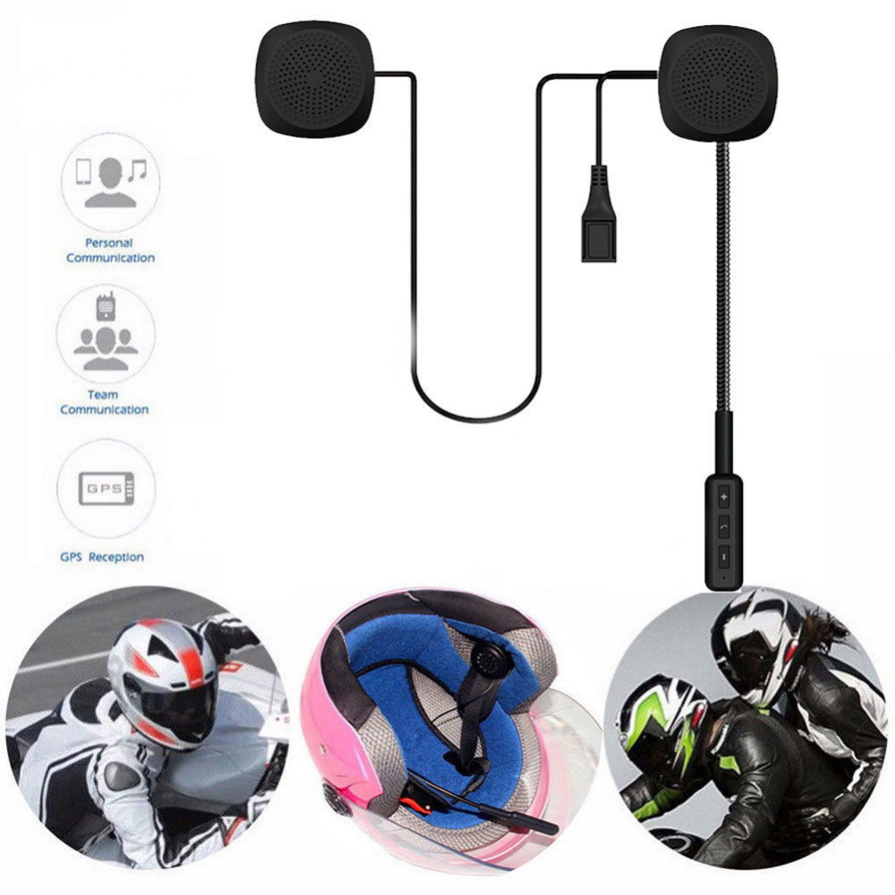 Helmet Motorcycle Headset Wireless Bluetooth Speaker Music For MP3 MP4