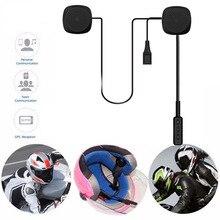 Citofono del casco Del Motociclo Auricolare Altoparlante Senza Fili di Bluetooth di Musica Per MP3 MP4