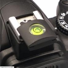2 pc Universal Câmeras DSLR Caso Protetor de Flash Hot Shoe Capa Cap Bolha Spirit Level para Nikon Canon Pentax Casio fuji Samsung