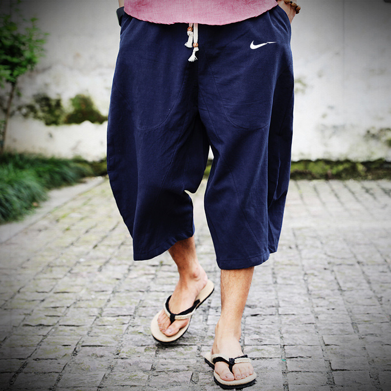 Trousers Pantalon Casual-Pants Dragon Elastic Loose Japanese Korean-Style Men's Cotton