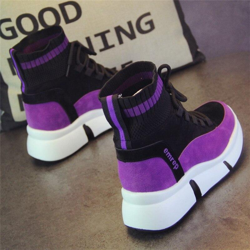 XJRHXJR marque chaussures femmes Designer baskets chaussures décontractées 2019 haut femmes appartements chaussures de marche chaussures vulcanisées 40 - 3