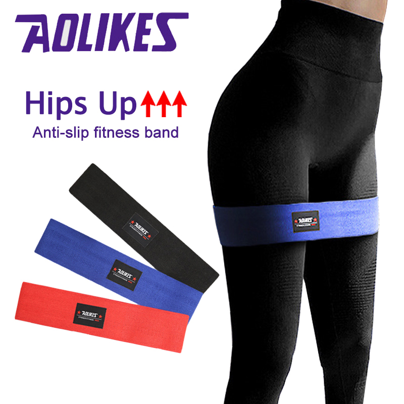 Gym Hip Resistance Bands Fitness Equipment Training Exercise Yoga 120lbs Booty Legs Thigh Arm For Warmup Squats Peach Buttock
