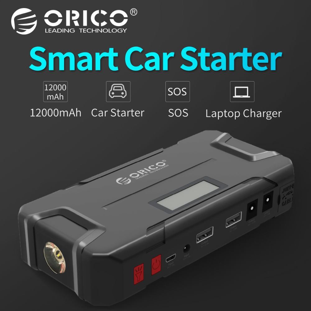ORICO CS2 12000 мАч мини Vehicel Мощность банк Портативный Батарея аварийной Booster Buster Мощность банка с фонариком для телефона автомобиля