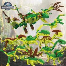 8 styles lot Jurassic Dinosaur World Block Jouet Enfant Building Blocks Sets Model Bricks Toys For