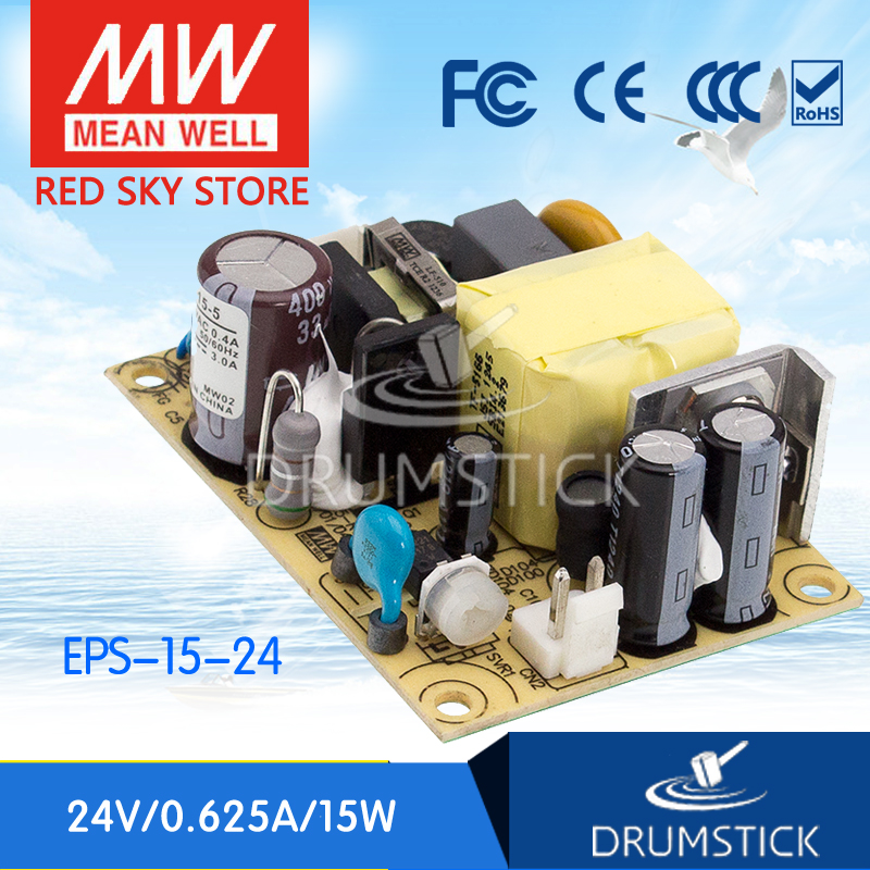 Best-selling MEAN WELL EPS-15-24 24V 0.625A meanwell EPS-15 24V 15W Single Output Switching Power Supply best selling mean well se 200 15 15v 14a meanwell se 200 15v 210w single output switching power supply