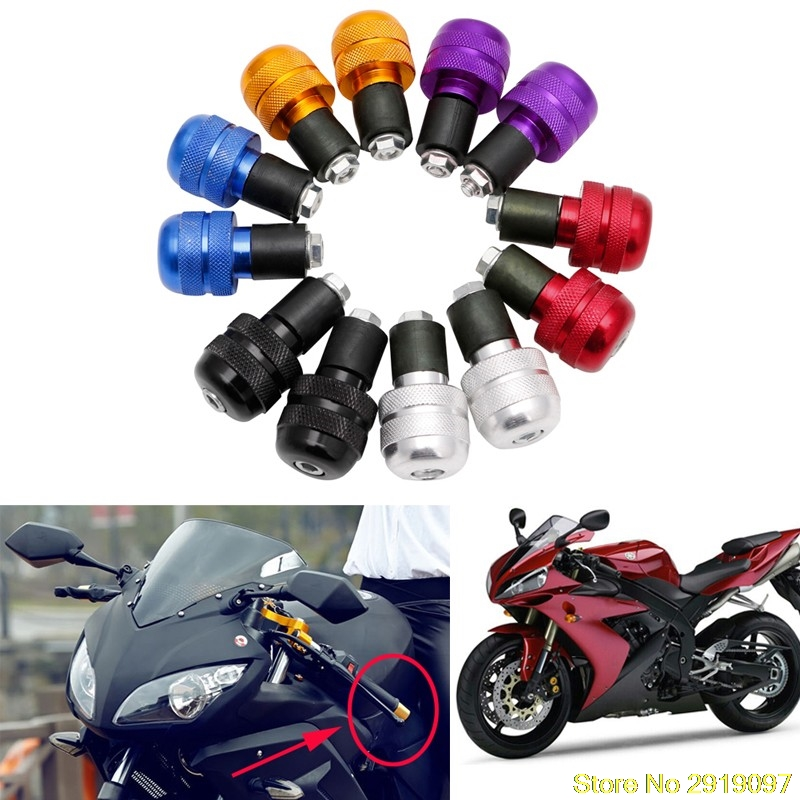 New Arrive 1pair Motorcycle Anti Vibration Handle Bar End Plug Grip Ends Caps 22mm Drop Shipping Support