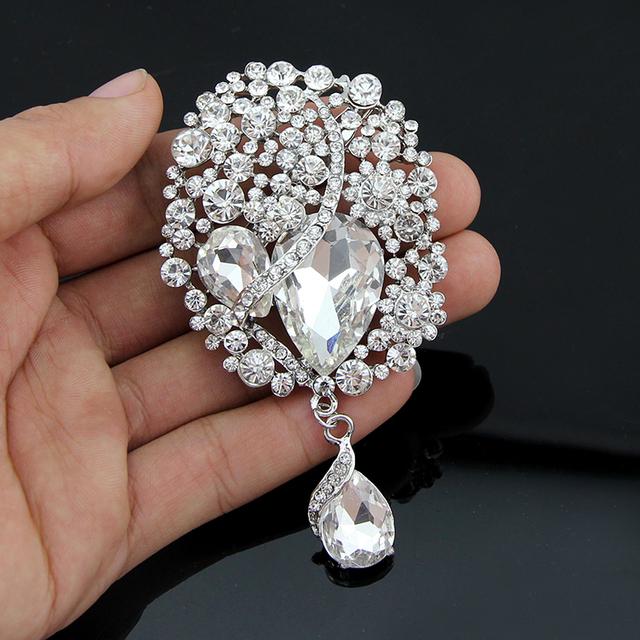 Pin buquê de casamento bouquet para o casamento de cristal pinos broche para homens moda jóias 3 cor escolher