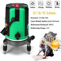200 Times Green Laser Level 2 3 5 Cross Lines Self Leveling 360 Rotary Measure Green