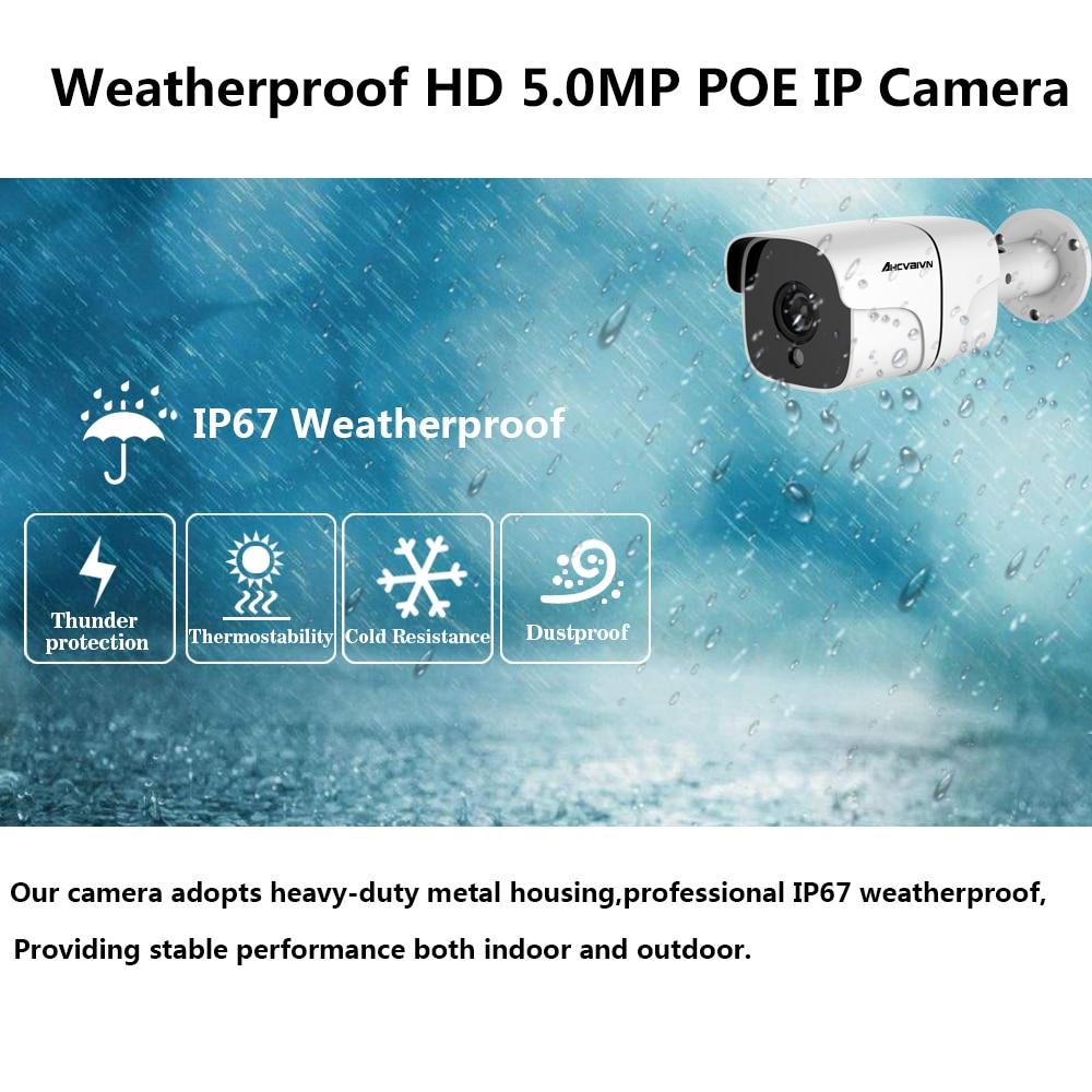 H.265 16CH 4K 5.0MP  CCTV Camera System POE NVR Kit 5MP  Outdoor Weatherproof IP67 Security IP Camera Video Surveillance Set