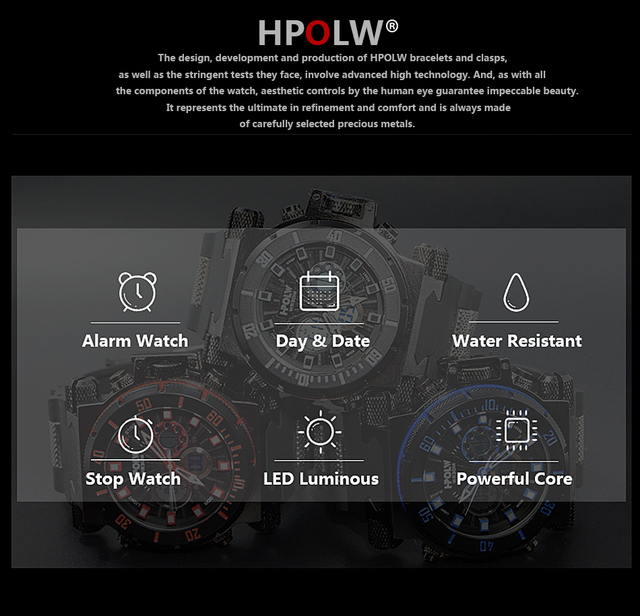 HPOLW Luxury Brand Mens Sports Watches Dive Digital LED Military  Watch Men Fashion Casual Electronics Wristwatches Clock 5