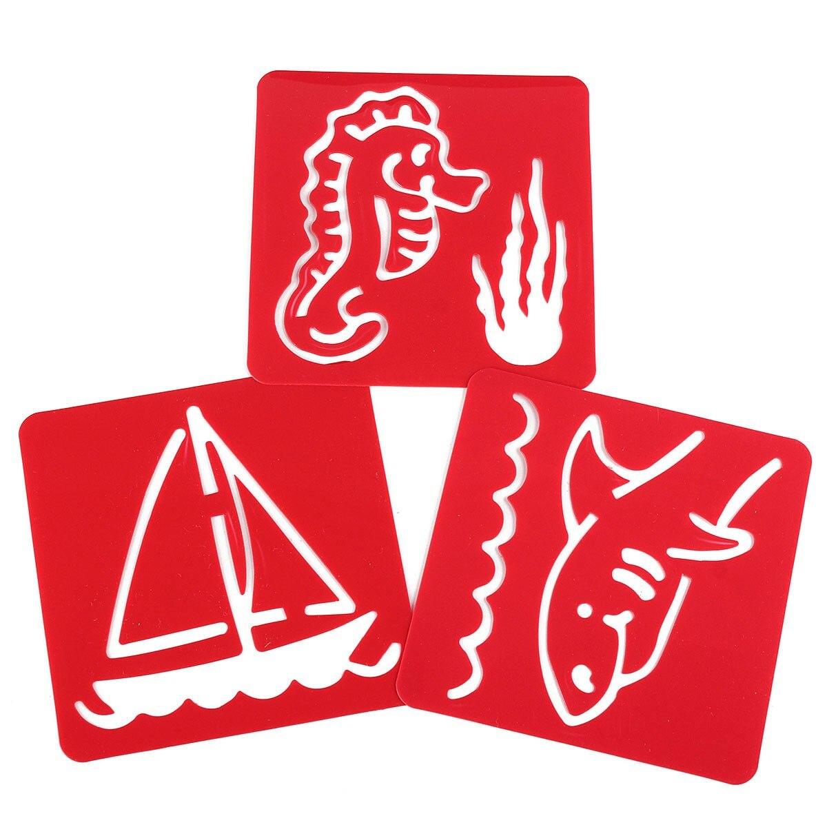 aliexpress com buy 12pcs kids drawing template stencil craft