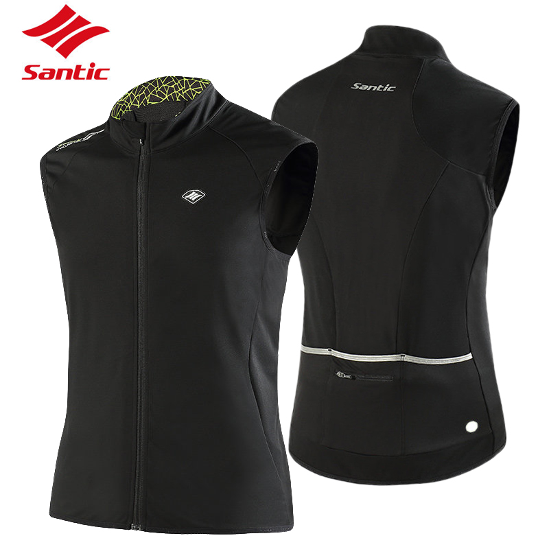Santic Tour De France Cycling Jersey Men Windproof Road MTB Bike Jersey Keep Warm Bicycle Vest Sport Waistcoats Cycle Clothing santic men cycling jersey 2017 tour de france mtb road bike jersey anti shlip sleeve cuff bicycle top riding shirt cycle clothes