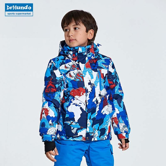 69be822f63 Boys Breathable Ski Suits Winter Girls Snowboard Suit Outdoor Boys Ski  Clothes Girls Snow Jacket Child