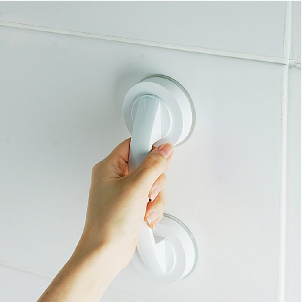 Bathroom Handle Grab Suction Cup Shower Safety Children Handrail Bathroom Rail Grip Vacuum Sucker Toilet Plastic Anti Slip Tools