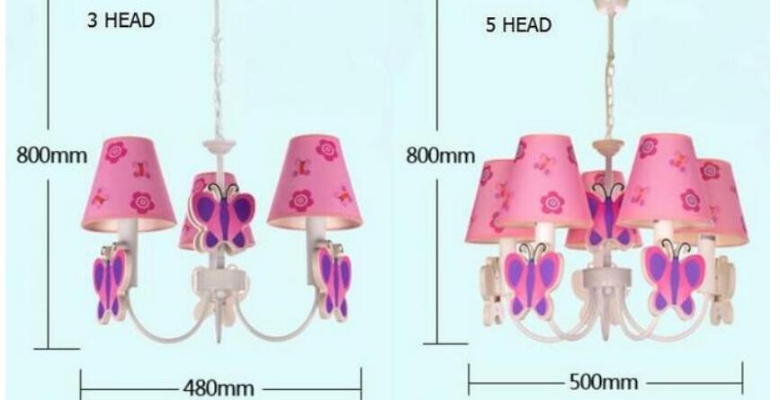 Slaapkamer Lamp Roze : Cartoon licht prinses kroonluchter mediterrane 3 5 hoofd meisje