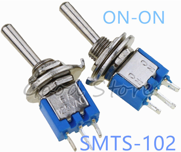 2 x On-On Sub-Miniature Toggle Switch 3A SPDT