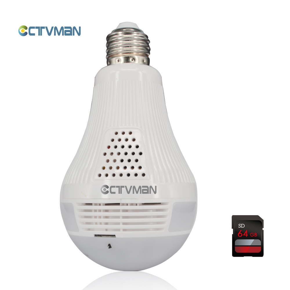 Здесь продается  CTVMAN Led Light Bulb Camera with 64GB SD Card Wireless Mini 960 IP Cam Fisheye 360 Degree Panoramic P2P Wifi CCTV Baby Monitor  Безопасность и защита